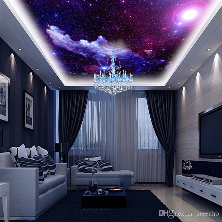 монтаж теплового потолок в зале сиренево розовое звездное небо фото нас разный внешний