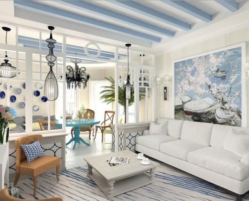 потолочные балки в классическом стиле