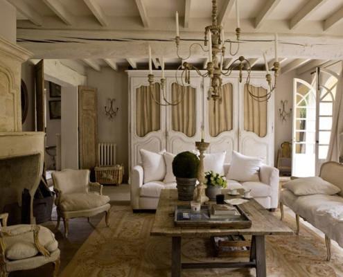 потолочные балки в стиле прованс