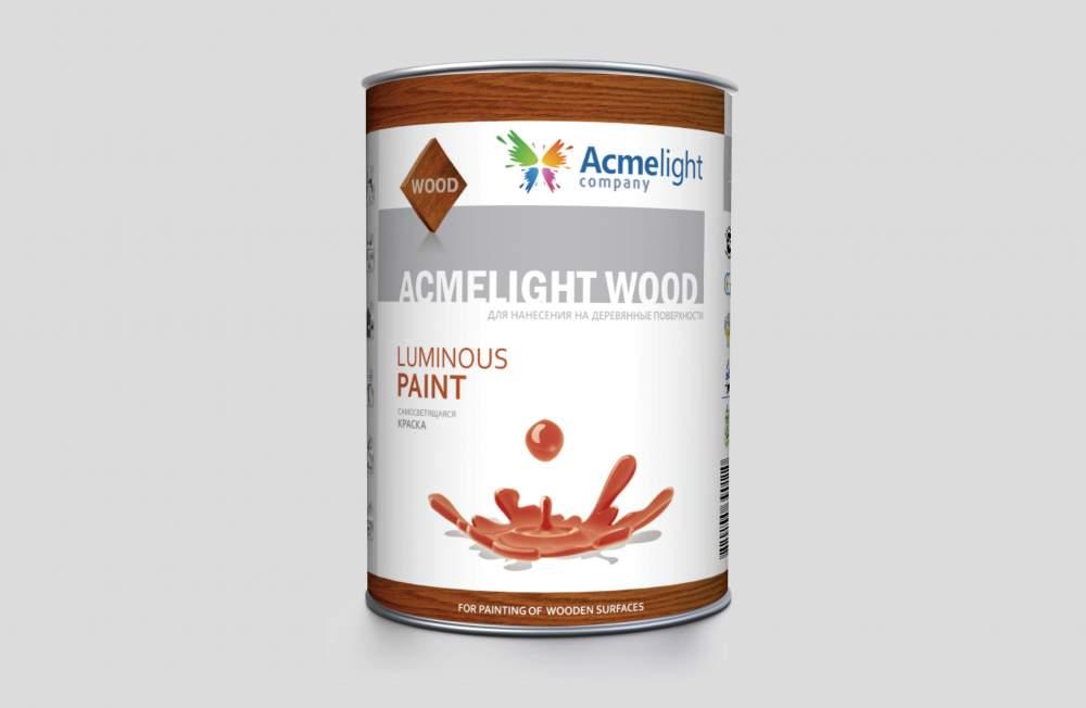 AcmeLight Wood- светящаяся краска для дерева, фанеры, ДВП и ДСП