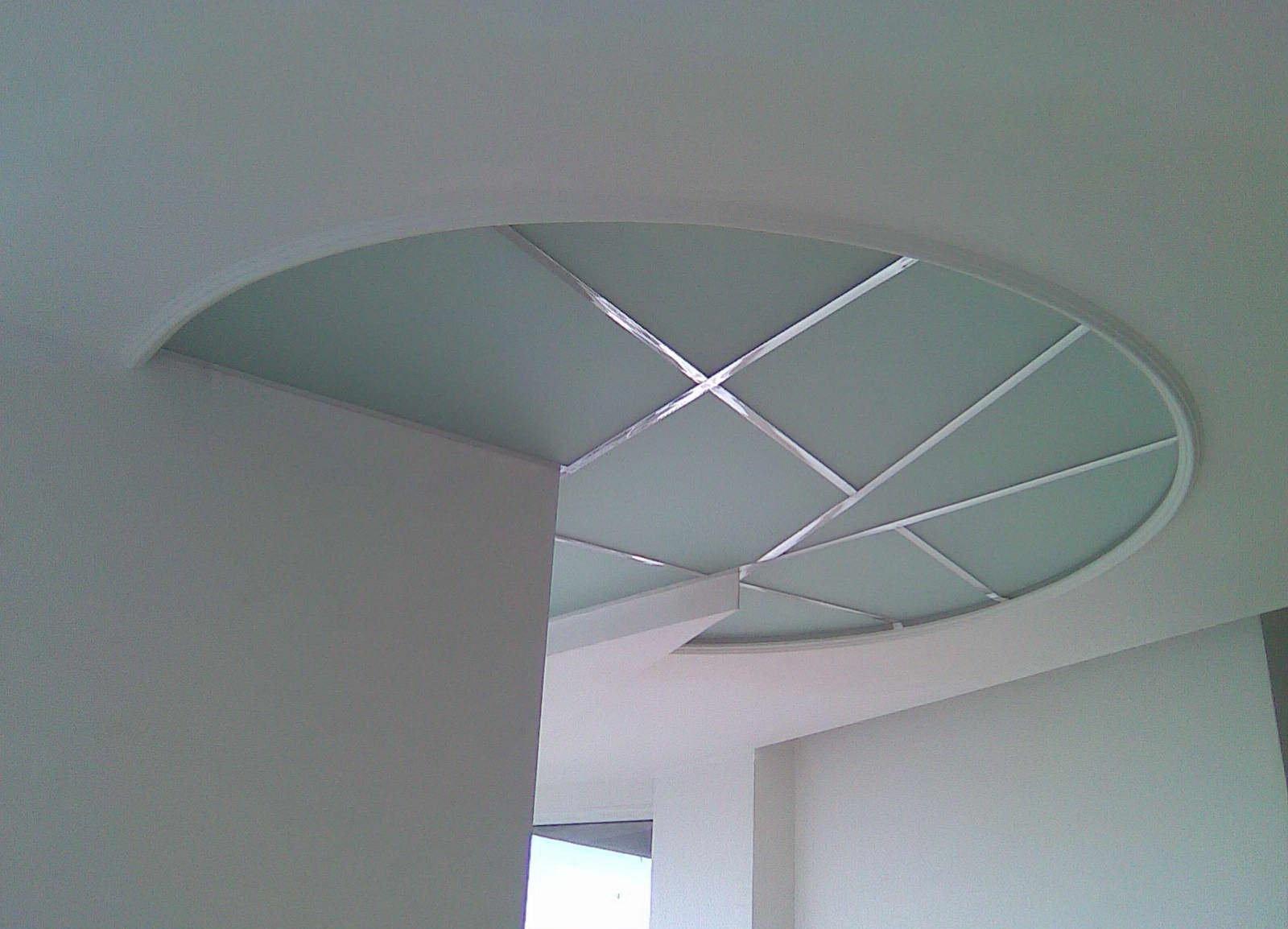 Стеклянный потолок с матовым стеклом