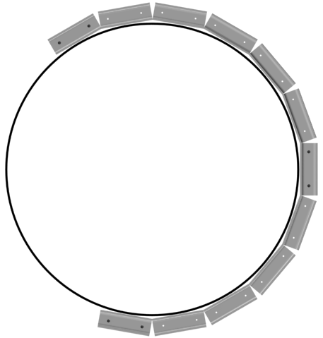 Так выглядит профиль, прикручиваемый вдоль обозначенной круговой разметки