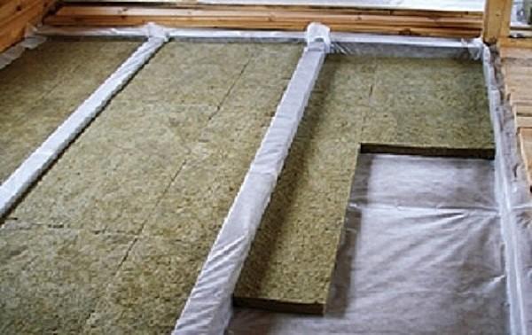 Утепление подшивного потолка минеральной ватой