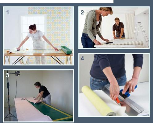 Как резать обои для потолка