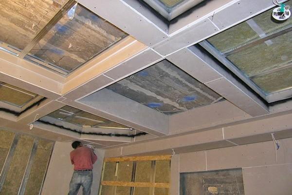 Альтернатива — кессонный потолок из гипсокартона