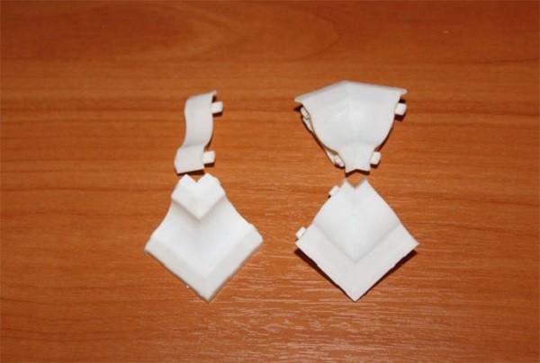 Уголки для потолочного плинтуса из ПВХ