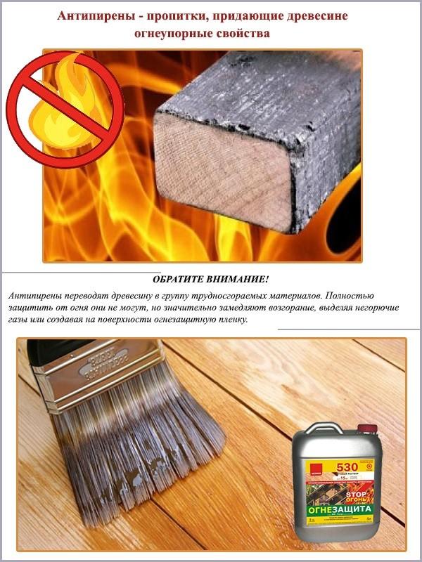 Антипирены — пропитки для придания огнеупорных свойств