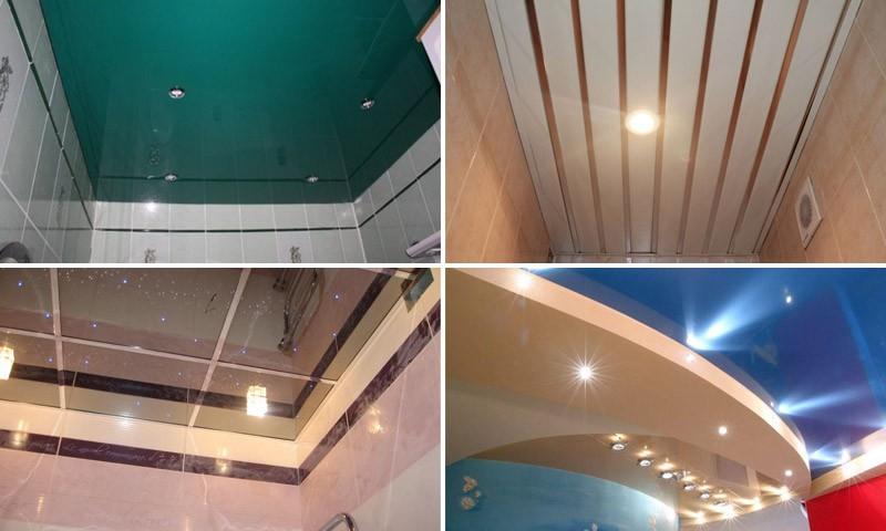 Какой потолок сделать в ванной комнате отзывы