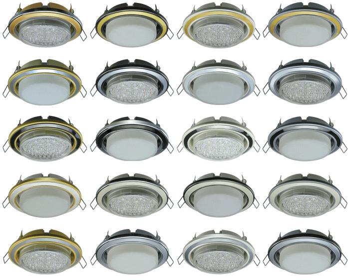 Двухцветные светильники для натяжных потолков