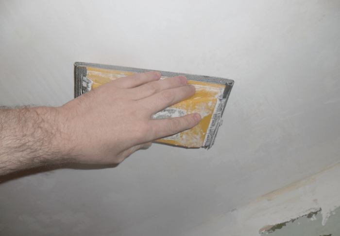 Финальная шлифовка потолка