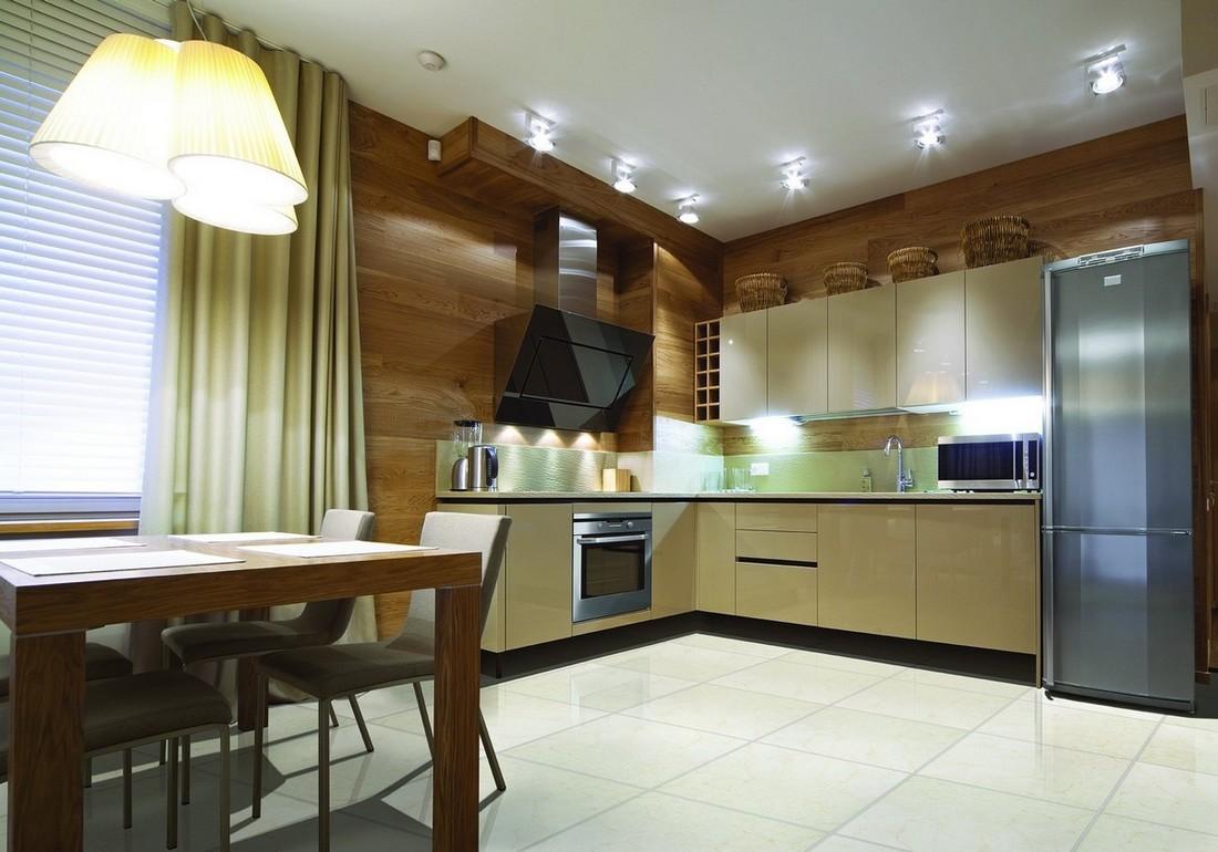 Интерьер кухни угловой фото