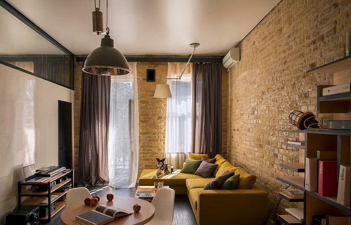 В моду входят квартиры в стиле лофт с полным отсутствием стен внутри