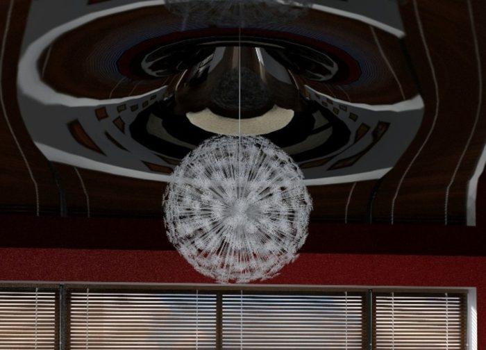 Сложный многоуровневый натяжной потолок