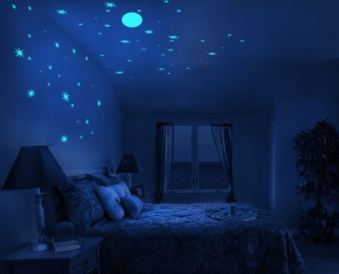 Виниловые светящиеся наклейки «Звездное небо» для стен и потолков