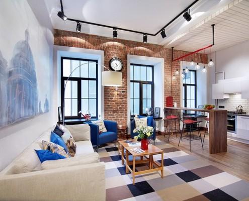 потолок в стиле лофт в обычной квартире