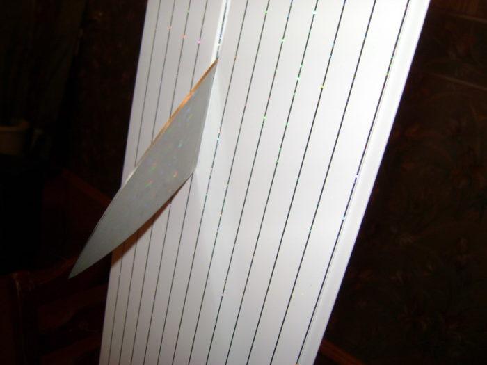 Обрезаем последнюю панель простым ножом