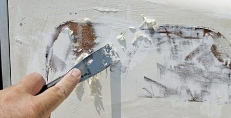 как снять старую водоэмульсионную краску с потолка