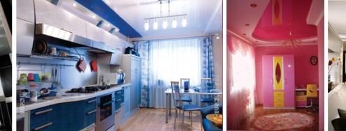 Комбинированный потолок: ведущая роль в дизайне интерьера