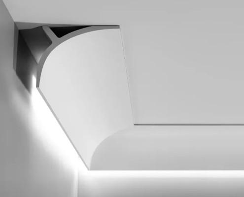 Потолочный плинтус под светодиодную ленту